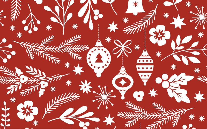 Holiday Pattern Red