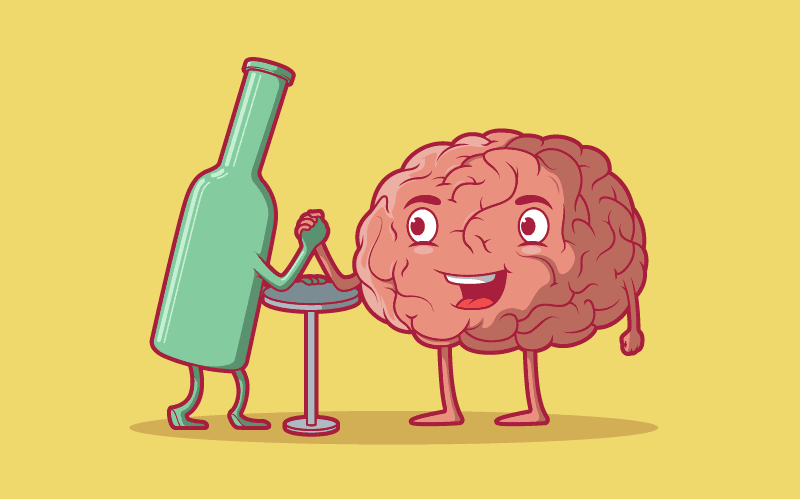 Brain vs beer bottle