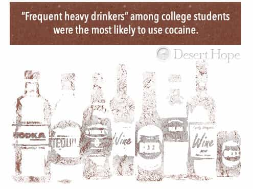 heavy drinkers and cocaine use