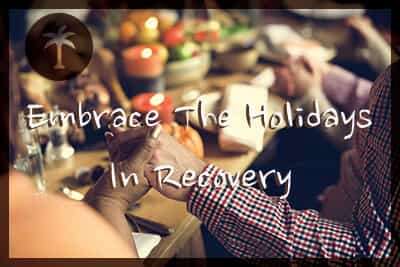 people embracing the holidays while in recovery from drug addiction
