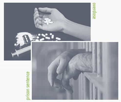 drug abuse overdose and prison sentences