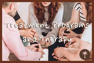 patients enjoying treatment programs and therapy for addiction