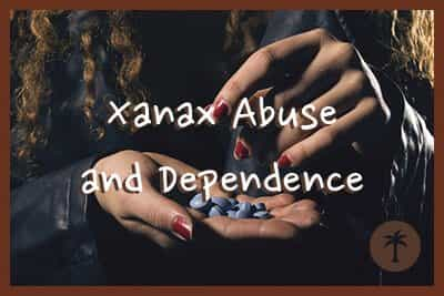 a person struggling with xanax abuse and dependence
