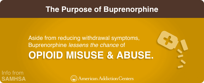 The Purpose of Buprenorphine