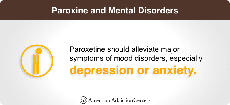 Paroxetine alleviates mood disorders