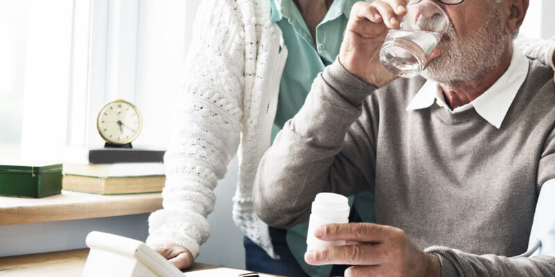 Senior Adult Taking Fluvoxamine